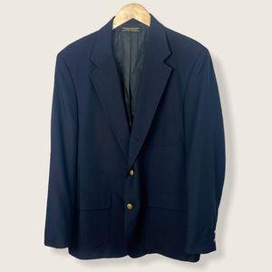 Vintage Brooks Brothers Navy Blue Blazer Jacket XL